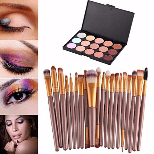 Sankuwen 15 Colors Contour Face Cream Makeup Concealer Palette Professional + 20 Brush