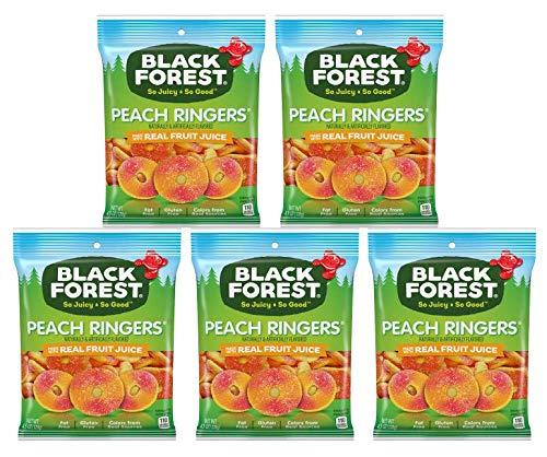 Black Forest, sin grasa, sin gluten, melocotón Ringers Gummy ...