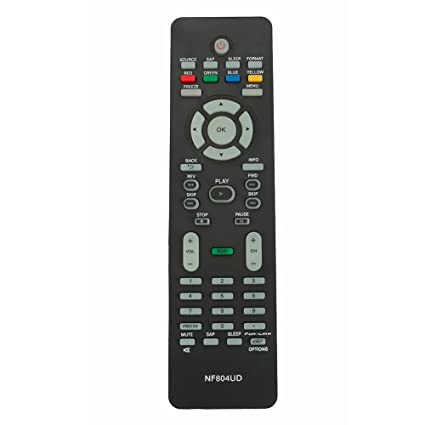 New NF804UD Replaced Remote fit for Magnavox TV 19MF330B/F7 32MF301B on