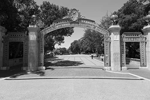 24 x 36 B&W Giclee Print of Sather Gate at University of California, Berkeley, California 2012 Highsmith - Sather Gate