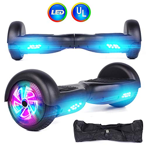 Felimoda Self Balancing Hoverboards with LED Light and Carrying Case,6.5 Inch Two Wheel Smart Electric Scooter for Kids and Adults-UL2272 Certified (Black) Review