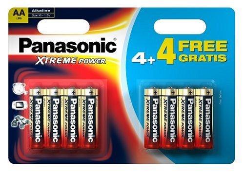 Panasonic Xtreme Power Aa/Lr6 Battery 8 Pack 4+4 Free (Panasonic Aa Lr6)