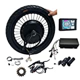 """NBpower Hydraulic disc Brake ! QS v3 273 Motorcycle 18"""" 19"""" 72v 8000W Rear hub Motor Wheel with tire,Sabvoton Controller with Bluetooth, Matching Front Wheel"""