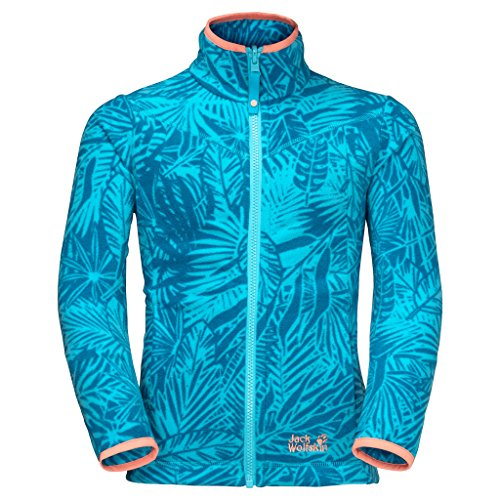 Price comparison product image Jack Wolfskin Girls Jungle Fleece Jacket, Lake Blue All Over, Size 140 (9-10 Years Old)