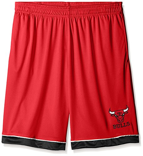 Profile Big & Tall NBA Chicago Bulls Men's Poly Jersey Lower Trim Shorts, 4X, Red by Profile Big & Tall