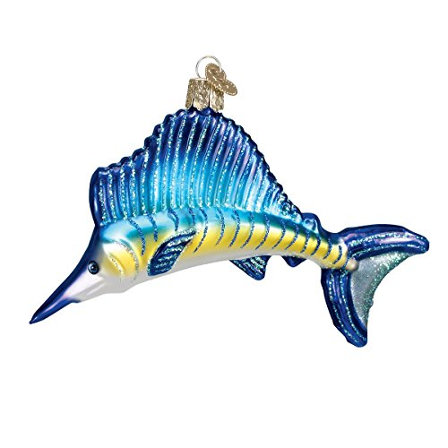 Old World Christmas Sailfish Glass Blown Ornament
