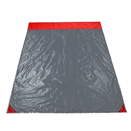 Cowboy Sleep Mat (XiYoYo Portable Outdoor Waterproof Picnic Mat 1.81.4m Foldable Moisture-Proof Pat 380T Polyester Silicone Picnic Cushion Gray/Red Sandproof Blanket for Picnic,Beach, Traveling ,Camping,Hiking)