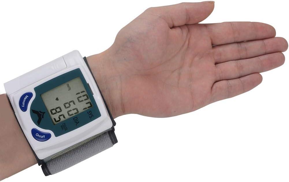 Byjia Muñeca Digital Monitor De Presión Arterial Tonómetro con Pantalla LCD Cuidado De La Salud para Uso Doméstico