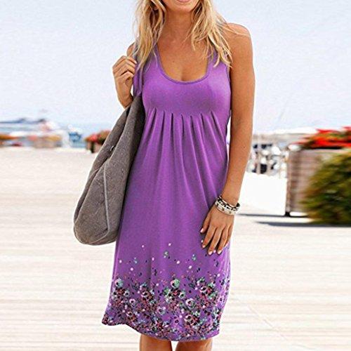 Camiseta Vestido Noche De Falda Vestir Playa Larga Verano Fiesta Boda Elegante Vestido Largo Vestido La JYC Mujer Sin Mujer Verano Corto Casual Púrpura Mangas Fiesta Encaje SRtwqYxASn