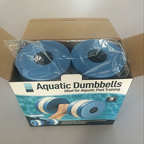ARTSTORE Aquatic Exercise Foam Dumbbells,Water Exercise Hand Bars Pool Resistance Exercises Equipment,Set of 2,Grey Red