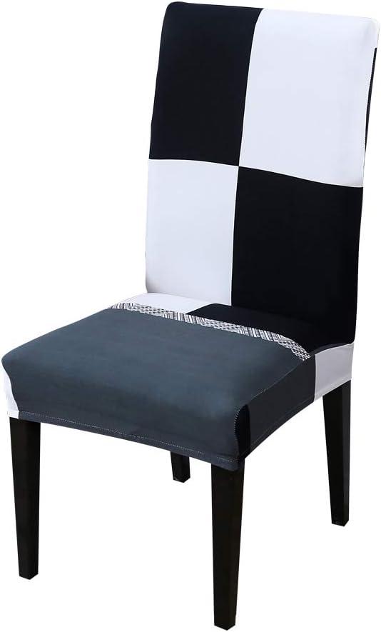 JuneJour Universal Stretch Stuhlhussen Stuhlbezug f/ür Stuhl Esszimmer