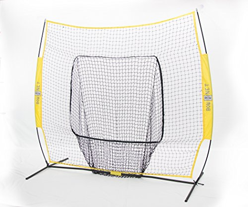 Bownet Big Mouth Colors 7' x 7' Portable Training Sock Replacement Net, Yellow