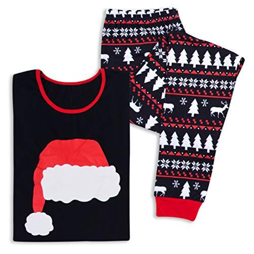 Pigiama Notte 2 Sleepshirts Cotone Huicai Famiglia Abbinamenti Pz Vestiti Manica Set Inverno Homewear In Nero Natale Di Autunno Papà Lunga TEwCqRwZ