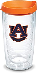 Tervis Auburn Tigers Tumbler with Emblem and Orange Lid 16oz, Clear