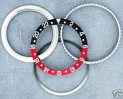 Retaining+Bezel+Insert for Rolex New GMT Black/Red 16700