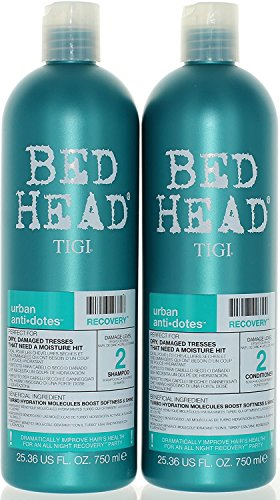 TIGI Bed Head Urban Anti Dote Recovery Shampoo Conditioner Duo Damage Level 2 2536oz