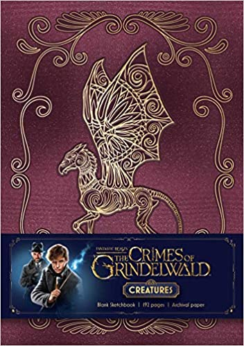 fantastic beasts the crimes of grindelwald magical creatures hardcover blank sketchbook