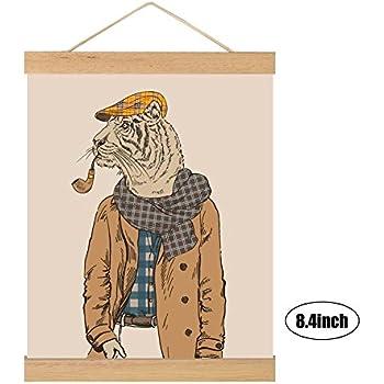 Amazon.com: Magnetic Wood Frame DIY Poster Scroll Artwork Print ...