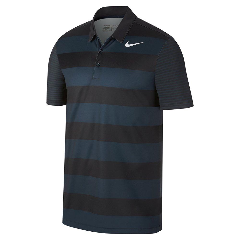 Nike Breathe Bold Stripe Golf Polo 2017 Armory Navy/White Small