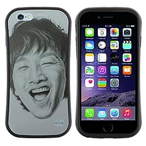 """Hypernova Slim Fit Dual Barniz Protector Caso Case Funda Para Apple (5.5 inches!!!) iPhone 6 Plus / 6S Plus ( 5.5 ) [Riendo dientes Retrato de hombre""""]"""