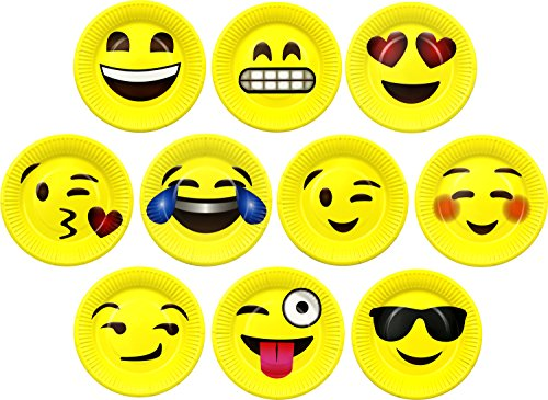 """LiveEco 7"""" Emoji Paper Party Plates 