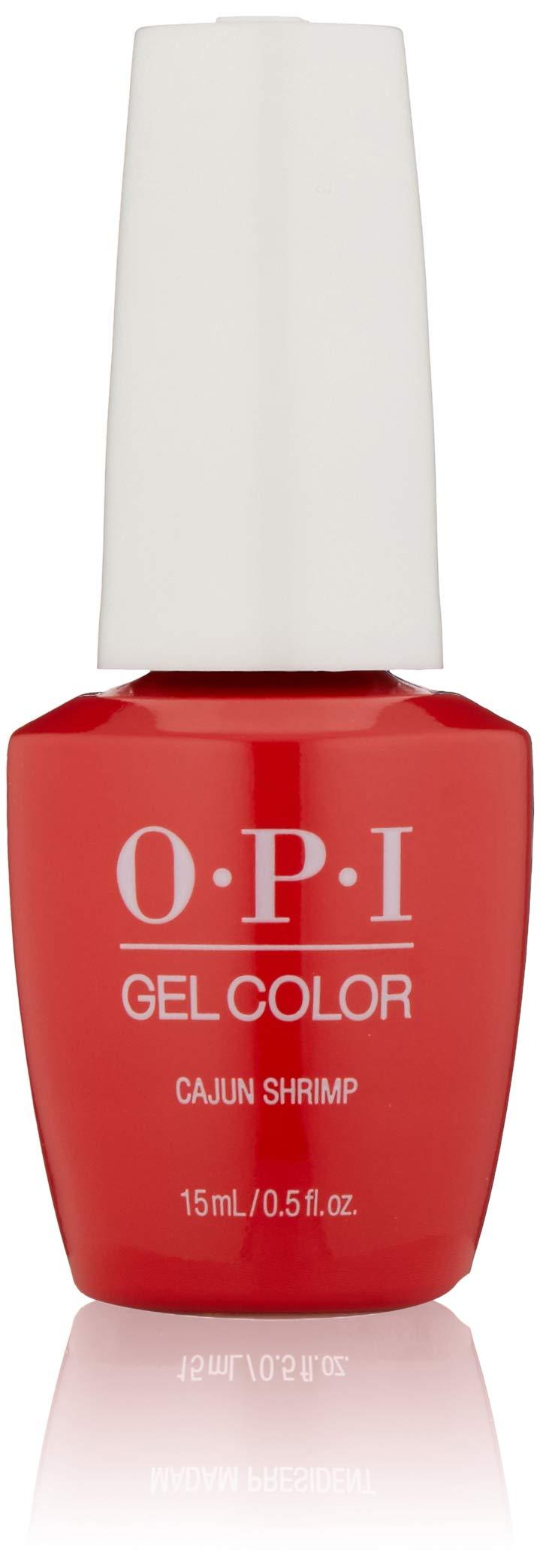 OPI GelColor Nail Polish, Red Gel Nail Polish, Cajun Shrimp, 0.5 floz