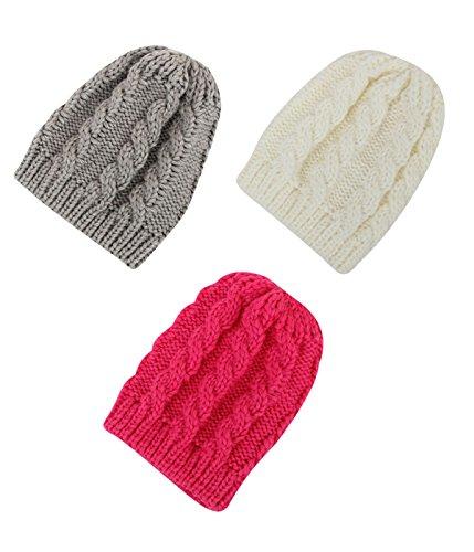 century-star-infant-warm-beanie-winter-basic-stylish-cap-baby-kids-snow-hat-3-pack-white-grey-red