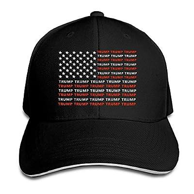Men's Trump USA Flag Contrast Sandwich Peak Cap Black