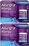 Allegra Allergy 24 Hour Gelcaps 180 mg 60 Count Long-Lasting Fast-Acting Antihistamine for Noticeable Relief from Indoor and Outdoor Allergy Symptoms (60 Count (Pack of 2))