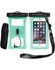 Vansky Floatable Waterproof Case, Cellphone Dry Bag with Armband and Audio Jack for iPhone 12 11 X XR 7/7 Plus, Samsung, TPU Construction IPX8 Certified Waterproof Phone Pouch Green