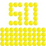 Bullet Ball Ammo Foam Dart Refills,Sbolang 50 Pcs Round Foam Refill Ammo Bullet Balls for Nerf Rival Series (Yellow)