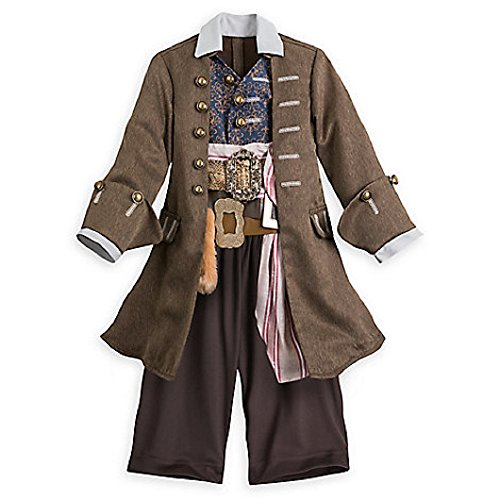 Authentic Jack Sparrow Costumes - Disney Cpt Jack Sparrow Costume Pirates of Caribbean: Dead Men Tell No Tales - 11/12