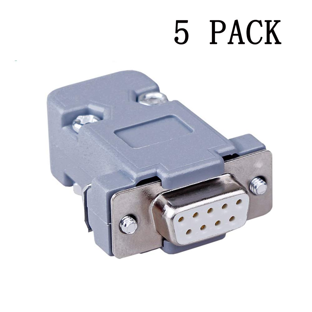 Anmbest 5PCS DB9 Solder Connector, RS232 485 422