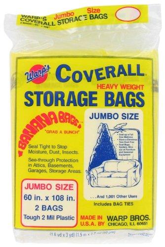 (2 Warps Coverall Storage Bags Jumbo Size 60