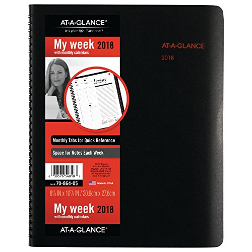 AT-A-GLANCE Weekly / Monthly Appointment Book / Planner, January 2018 - December 2018, 8-1/2