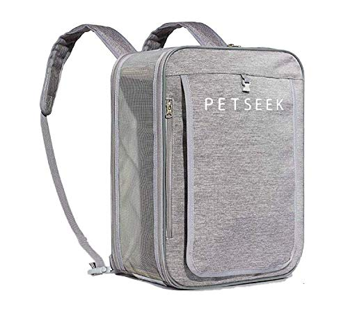 Petseek Cat Carrier Pet Travel Carriers Airline Approved for Small Cats Dogs Collapsible