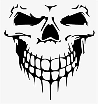 vinyle sticker autocollant tête de mort 10