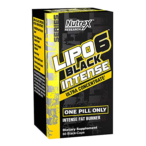 Nutrex Research Lipo-6 Black Intense Ultra Concentrate | Intense Thermogenic Fat Burner & Energy Support | TeaCrine, Capsimax, Caffeine Citrate | 60Count