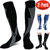 Compression Socks for Men ,(Pair Of 2) Running Socks ,Sport Socks for Running, Nurses,Shin Splints,Flight Travel,& Maternity Pregnancy.Boost Stamina, (L/XL ( adult8-15.5 / Men 8-14) by ANGELGG