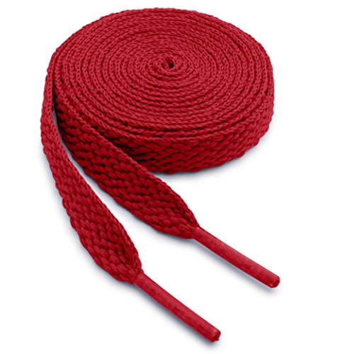 OrthoStep Flat Athletic Red 45 inch Shoelaces - Men Women and Kids Shoelaces 2 Pair Pack -