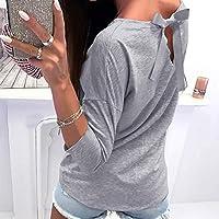 AiBarle - Blusa de Manga Larga para Mujer con Estampado de ...