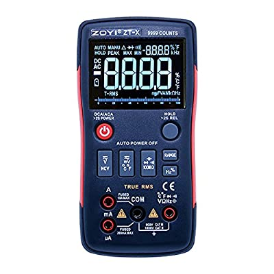 True RMS digital multimeter button 9999 counts with Analog bar graph NCV multi tester multimetro AC DC digital ammeter voltmeter resistance capacitance measurement analysis instruments