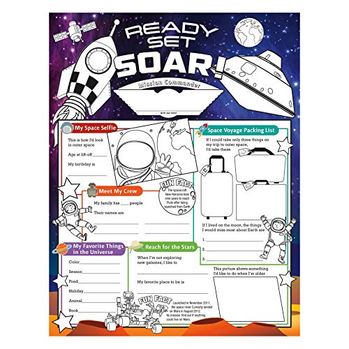 North Star Teacher Resource NST3093 Fill Me In: Ready Set Soar! Activity Posters, Pack of 32