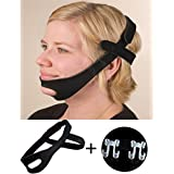 Anti-Snore Sleep Chin Strap with Nose Vents Nasal Dilator- Stop Snoring Snore Solution Device