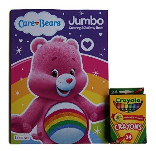 Care Bears ''Cheer Bear'' Jumbo Coloring and Activity Book with Crayola (Cheer Carebear)