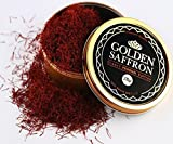 Golden Saffron, Finest Pure Premium All Red Saffron Threads, Grade A+, Highest Grade (28 Grams)