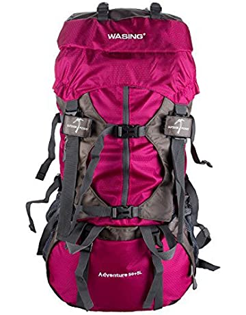 WASING 55L Internal Frame Backpack Hiking Backpacking Packs for Outdoor  Hiking Travel Climbing Camping Mountaineering with c5a64ae8bc