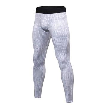 dcd3c5700 Guiran Pantalones De Deporte para Hombre Leggings De Compresión Base Capa  Mallas Térmicas Polainas Blanco L: Amazon.es: Deportes y aire libre