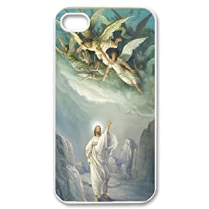 James-Bagg Phone case Angel,christ art pattern For Iphone 4 4S case cover FHYY421996