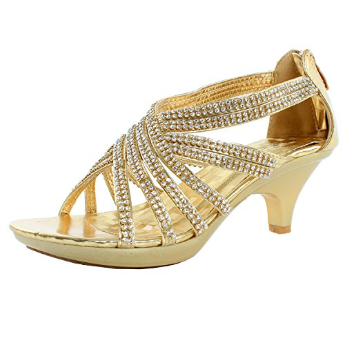 Strappy Angel 41 Womens Delicacy Gold Embellished Rhinestones Sandals nzS4xPq